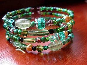 Náramky - Hrubý korálkový náramok (Jar v záhrade - náramok č.56) - 5244171_