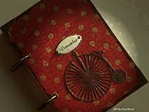 Papiernictvo - Červená retro bodka-Diár 2021 - 5245085_