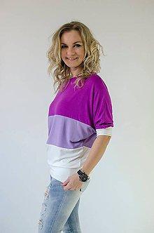 Tričká - Trojfarebné s viskózy- fialové - 5242170_