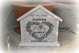 Dekorácie - Domček s citátom - 5244227_