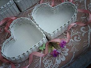 Košíky - Srdénko - svadobný sen - 5242523_