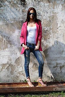 Kabáty - Olá - 10 odtieňov fuksiovej - 5241755_