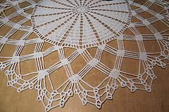 Úžitkový textil - Háčkovaná  dečka biela - 5244912_