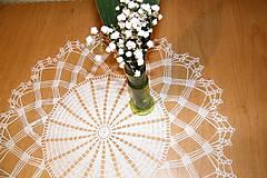 Úžitkový textil - Háčkovaná  dečka biela - 5244921_