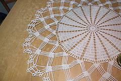 Úžitkový textil - Háčkovaná  dečka biela - 5244941_