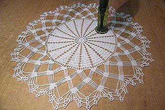 Úžitkový textil - Háčkovaná  dečka biela - 5244913_