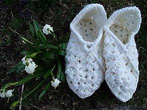 Obuv - Pieseň pre Kristínkine biele papuče - 5243284_