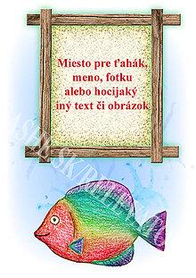 Papiernictvo - Podložky pod zošit Morský svet (dúhová rybka osobné) - 5244915_