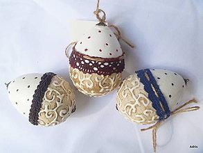Dekorácie - Krajkové vajíčka - 5248410_