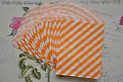 Obalový materiál - papierovy sacok oranzove pruhy - 5249537_