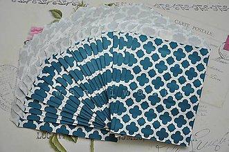 Obalový materiál - papierovy sacok modry kvet - 5249605_