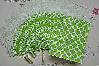 Obalový materiál - papierovy sacok zeleny kvet - 5249615_