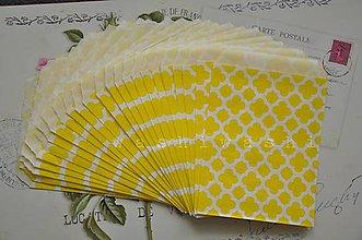Obalový materiál - papierovy sacok zlty kvet - 5249640_