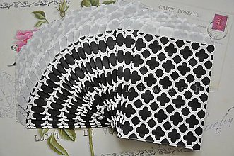 Obalový materiál - papierovy sacok cierny kvet - 5249698_