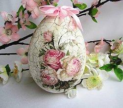 Dekorácie - Kraslica ružová- 10 cm - 5248501_