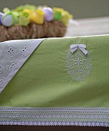 Úžitkový textil - Veľkonočný obrus čipkovaný,vyšívaný... - 5246440_