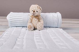 Textil - Letná Deka pre Bábätko - BledoModrý vrkoč, OEKO-TEX® - 5245774_
