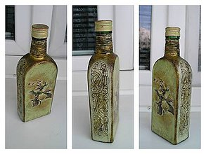 Nádoby - vintage fľaša - 5247008_