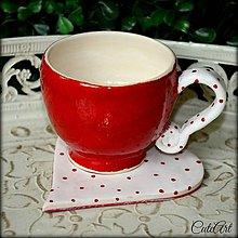 Nádoby - Láska v káve - unikátna šálka - 5249441_