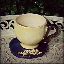 Nádoby - Káva v kvete - unikátna šálka - 5249535_