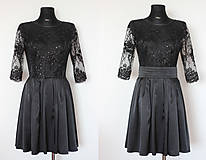 Šaty - Koktejlové šaty s tylovou krajkou rôzne farby - 5248131_
