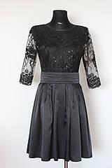 Šaty - Koktejlové šaty s tylovou krajkou rôzne farby - 5248133_