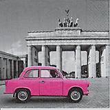 Papier - 404 ružové autíčko - 5246029_