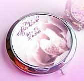 svadobné zrkadielko Rose - text na želanie