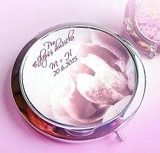 Darčeky pre svadobčanov - svadobné zrkadielko Rose - text na želanie - 5247649_