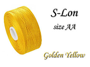 Galantéria - S-Lon (Superlon) AA Golden Yellow 68m, bal.1ks - 5249737_