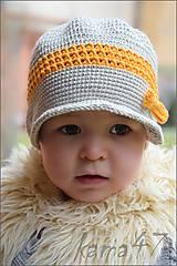 Detské čiapky - Elegantná šiltovka...