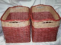 Košíky - Pletené košíky - Mahagón - 5254167_