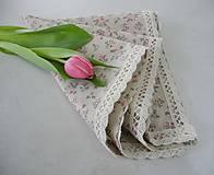 - Obrúsok na stôl... s ružičkami - 5254251_