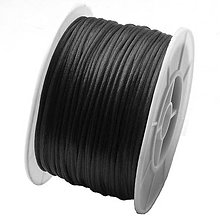 Galantéria - Nylonová šnúrka čierna 1mm - 5252007_