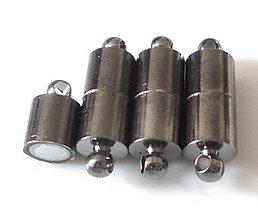 Komponenty - Magnetické zapínanie - hematit, 19x6mm - 5252911_