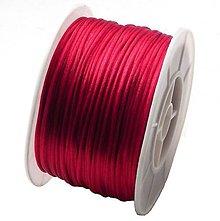 Galantéria - Nylonová šnúrka tmavo červená 1mm - 5253865_