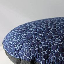 Úžitkový textil - Tmavomodrý kulatý - 5254166_