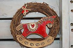Dekorácie - Koník červený - 5252038_