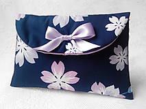Taštičky - BonBon pochette (dark blue/violet flowers) - 5255437_