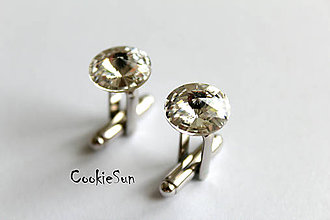 Šperky - Manžetové gombíky Swarovski Rivoli Crystal - 5256851_