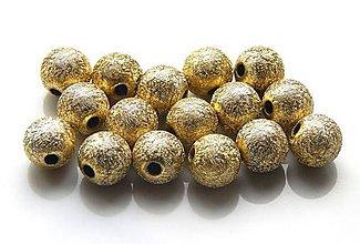 Korálky - Akrylové korálky Stardust gold /10ks - 5260774_