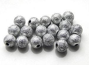 Korálky - Akrylové korálky Stardust silver /10ks - 5260783_