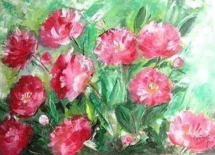 Obrazy - Žiarivé srdce záhrad - 5258009_