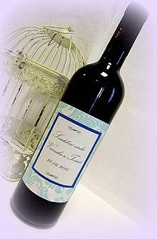 Papiernictvo - Etiketa na víno - Kráľovský tyrkys - 5260269_