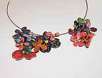 divoké kvety náhrdelník a prsteň