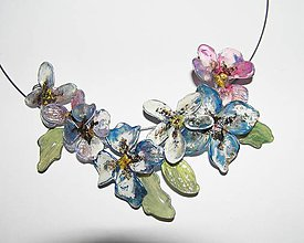 Náhrdelníky - masked flowers - 5263853_