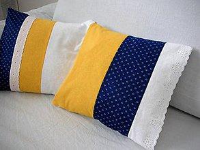 Úžitkový textil - obliečka na vanúš - Kúsok modrotlače - 5261577_