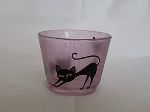Svietidlá a sviečky - Svietnik - Three Kittens - red - 5264129_