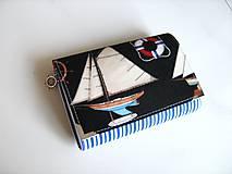 Peňaženky - Kapitáne, kam s tou lodí? - zipová i na karty - 5262445_