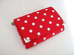 Peňaženky - Red DOTS II.- peněženka i na karty - 5262608_